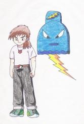 Nowell nám poslal svoje trenérské alterego Joren Blactr a svého Pokémona Kokoghost.